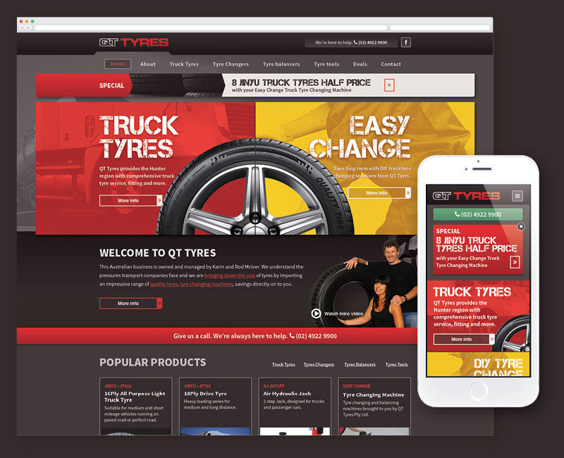 web development QT Tyres